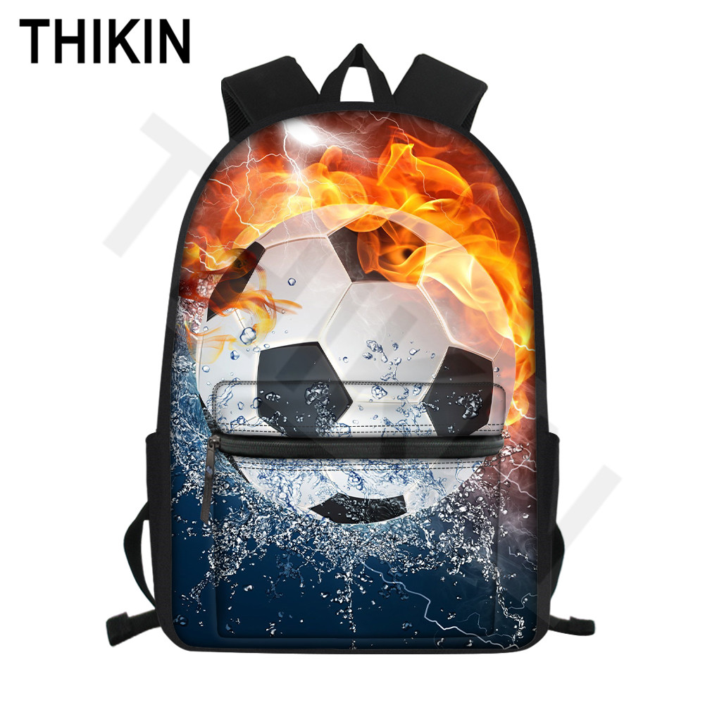Cool 3D Rugby Boys Teens School Backpack Bookbag Travel Laptop Shoulder Satchel