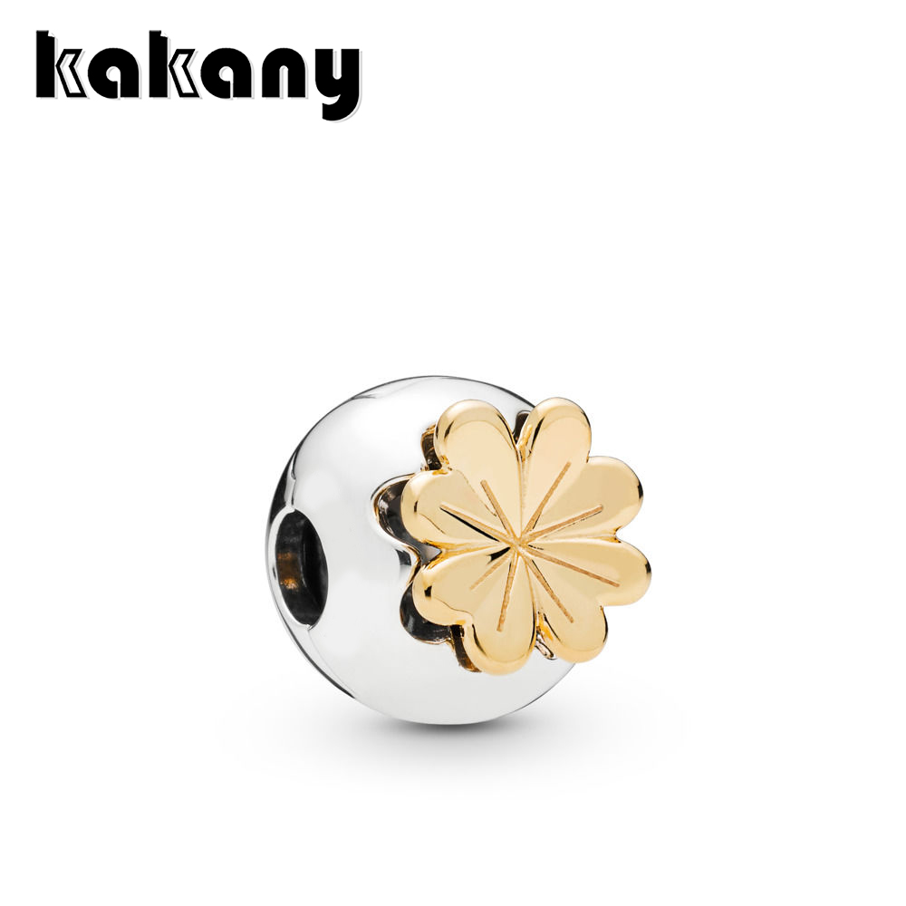 KAKANY 2019 spring new shiny four-leaf clasp fixed clip original high quality 1:1 fashion 925 sterling silver jewelry DIYKAKANY 2019 spring new shiny four-leaf clasp fixed clip original high quality 1:1 fashion 925 sterling silver jewelry DIY