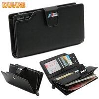 KAHANE Genuine Leather Man Wallet Car Driver License Bag Credit Card Bag Men Clutch Bag For