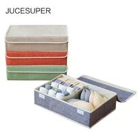 JUCESUPER Underwear Storage Box Creative 16 Fold Collapsible Classification Storage Box Household Dustproof Antibacterial Tool