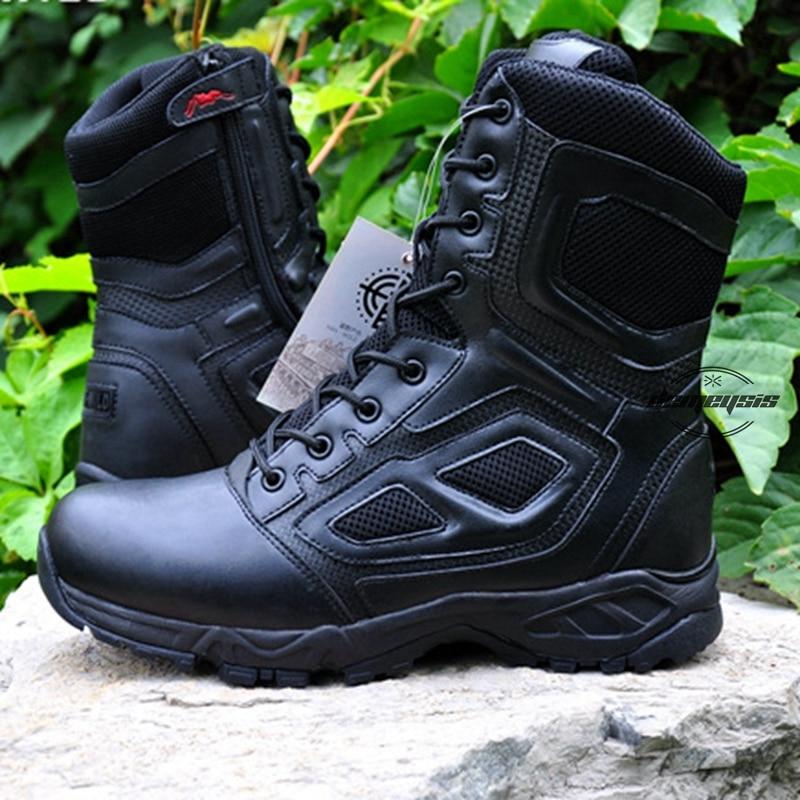 Уличная обувь для пеших прогулок, мужские военные тактические ботинки с высоким берцем для пустыни, охоты, походов, альпинизма, военных такт...