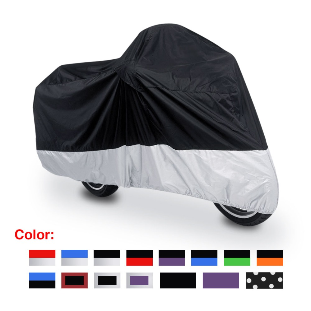 L XL XXL XXXL 180T Rain Dust Motorcycle Cover Outdoor UV Waterproof Fit to Honda Victory