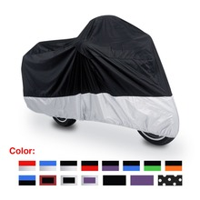 L/XL/XXL/XXXL 180T Rain Dust Motorcycle Cover Outdoor UV Waterproof  Fit to Honda Victory Kawasaki Yamaha Suzuki Harley Davidso