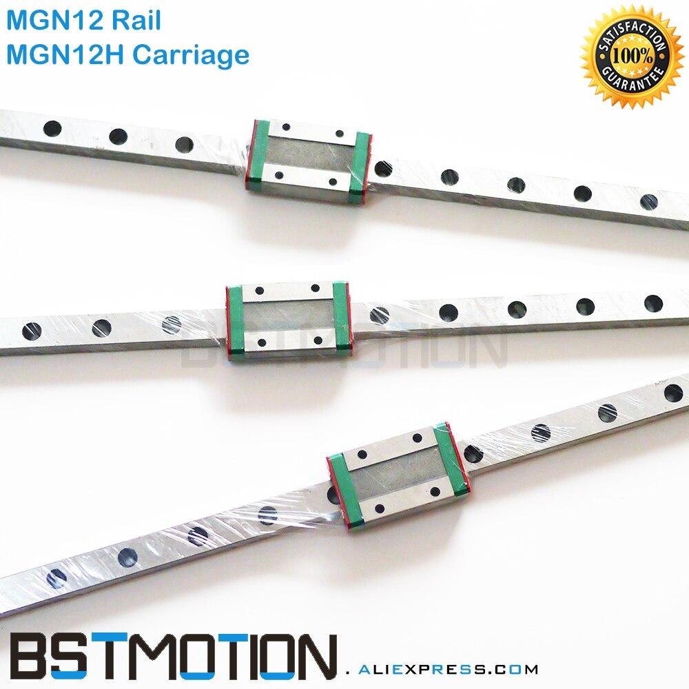 12mm Linear Guide MGN12 100mm 150mm 200mm 250mm 350mm 400mm 450mm 480mm 500mm Linear Rail MGN12C
