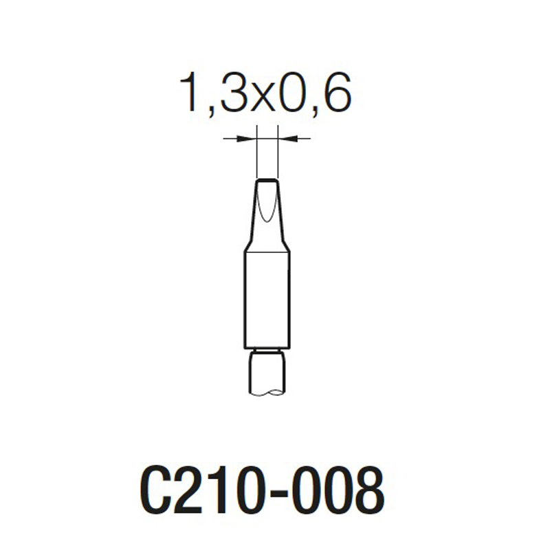 JBC C210008 Cartridges  Soldering  Tip For T210  Soldering Handle