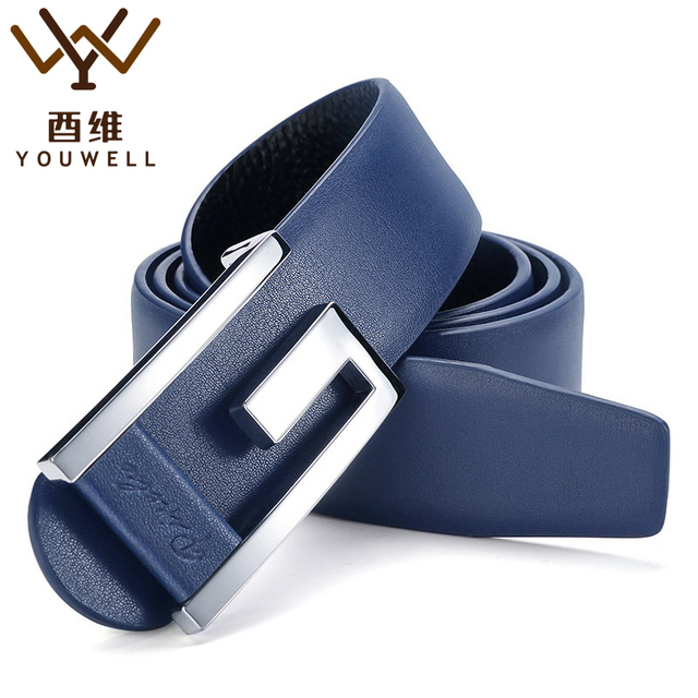 2016 New Brand Designer Belts Men High Quality Cowhide Young Fashion Leather Buckle Men Belt Luxury Bussiness Casual PX001