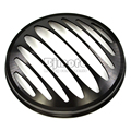 """BJGLOBAL 7"""" Motorcycle Black CNC Aluminum Metal Round Headlight Grill Cover For Harley Sportster XL 883 1200"""
