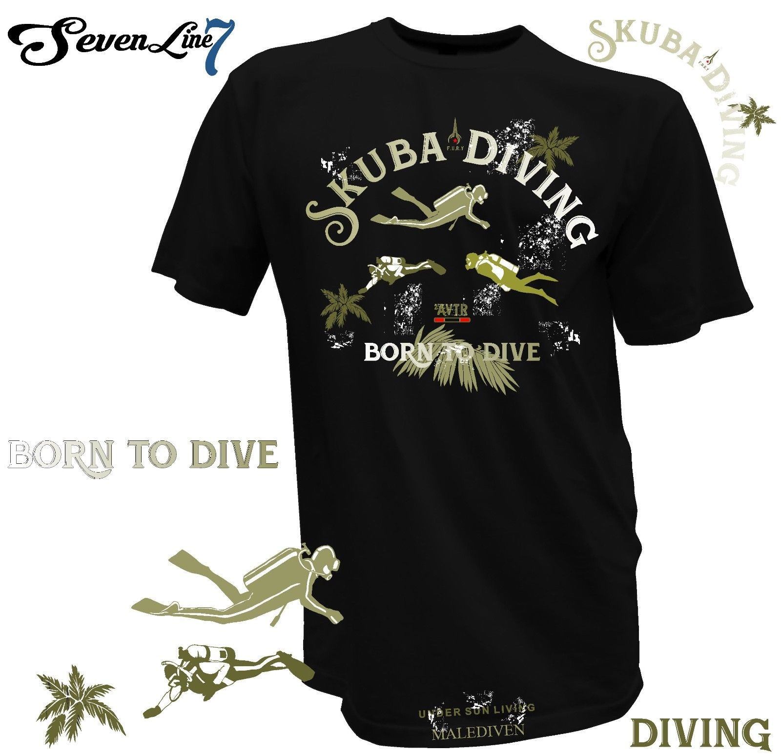 2019 neue Cool Tee Shirt T-Shirt Taucher Wassersport Skuba Div
