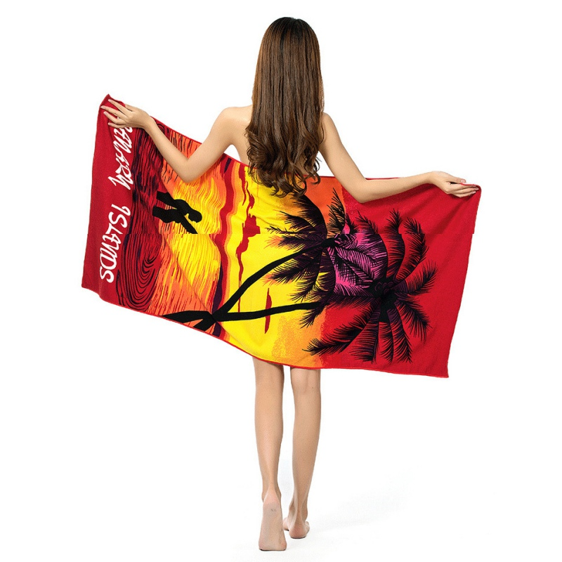 Summer Beach swimming Towel Microfiber Absorbent Printed Bath Towels Drying Washcloth <font><b>70*150</b></font> image