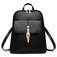 High Quality Fashion PU School Backpacks Zipper Schoolbag Casual Traveling Pratical Women Backpack Bag