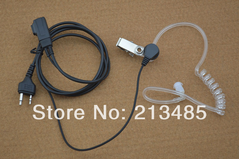 2-Pin With Straight  Angle Plug Air-Tube Acoustic Earhook Headset  With PTT For Midland LXT216,LXT303,LXT410,GXT450,GXT650