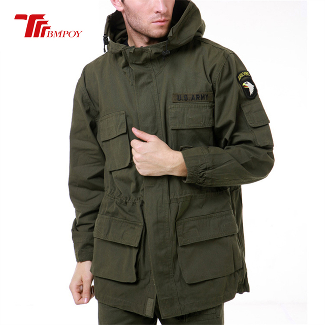 Military Style Jackets For Men Pilot Cotton Coat Usa Army 101 Air