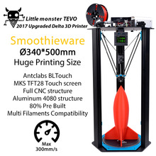 2017 Newest TEVO  Little Monster Delta 3D Printer  Large Printing Area   OpenBuilds Extrusion/Smoothieware/MKS TFT28/Bltouch