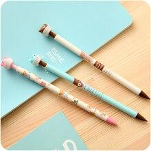1 Pcs Cute Kawaii 0.5mm Aihao Korean Japanese Bear Animal Automatic Mecanical Pencils Office School Kids Supplies Stationery