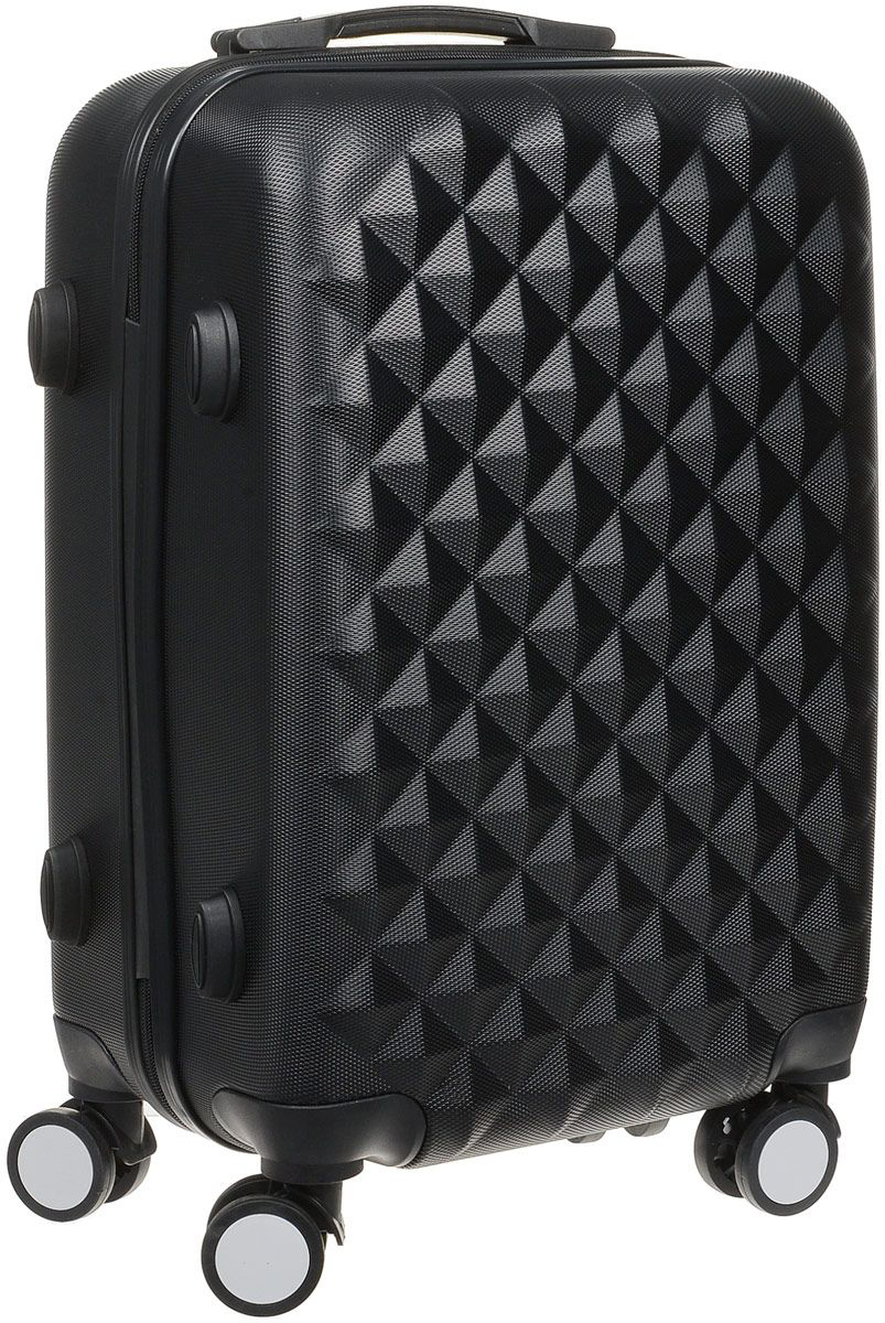 Stylish black PROFFI TRAVEL PH8367 black, S, plastic suitcase with 4 wheels with combination lock fashionable suitcase with print proffi travel ph9209 m plastic medium with combination lock