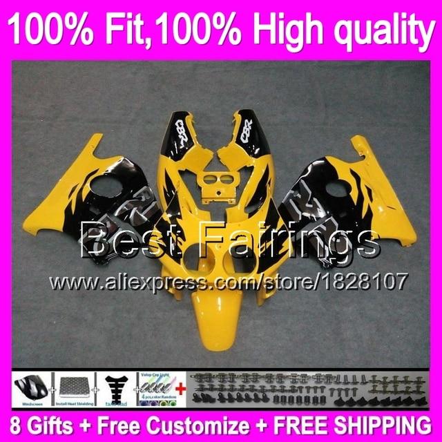 Fairing Yellow Black For HONDA Injection CBR250RR MC22 90 99 CBR