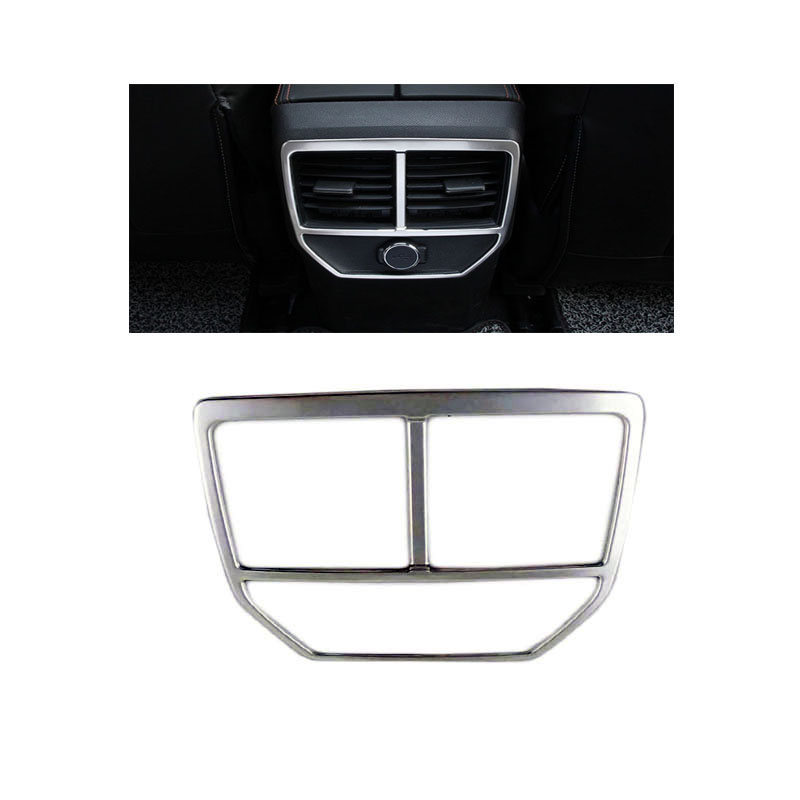 Stainless steel Interior Outlet Decoration Ring Molding Trim Covers for New <font><b>Peugeot</b></font> <font><b>4008</b></font> <font><b>2016</b></font> 2017 image