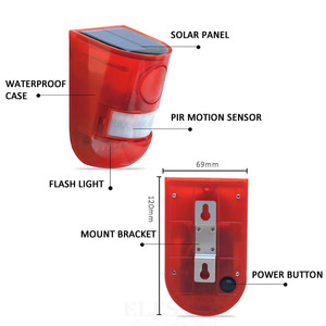 Image 4 - Solar Powered Infrared Motion Sensor Detector Siren Strobe Alarm System Waterproof 110dB Loud For Home Yard Outdoor Security