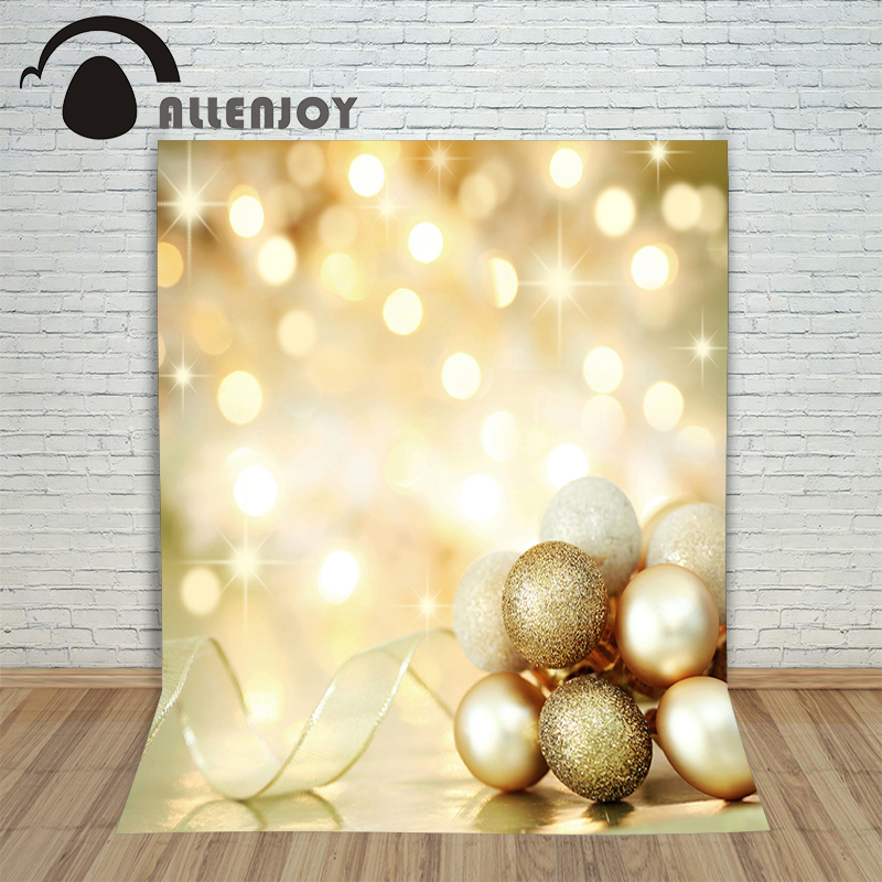 Allenjoy vinyl photography backdrop Christmas ball light blur children's background for photo shoots fabric
