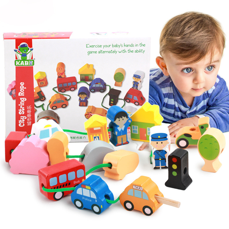 Baby Wooden City Traffic Toy Car Early Childhood Education ...
