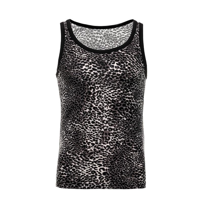 100% QualitäT Leopard Print Sexy Hemd Männer Sommer Unterhemden Männer Casual Slim Fit Unterhemd O-ansatz Fitness Bodybuilding Männlichen Tops Kleidung