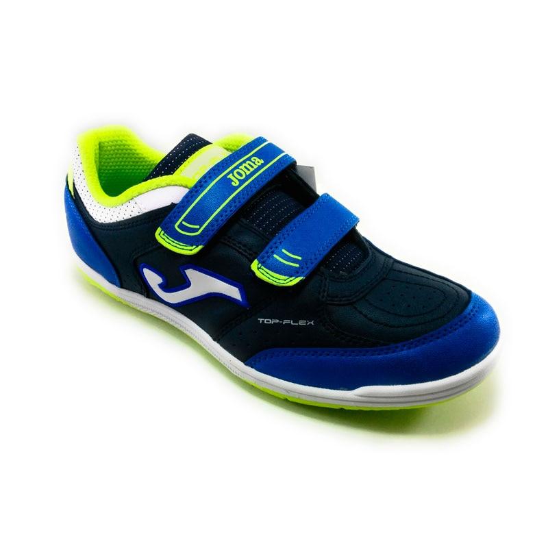 9eaafe213 Joma Top Flex Boy-blue synthetic FOOTBALL indoor soccer shoes, velcro padel