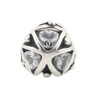 Otantik 925 Gümüş Üçgen Ile Kristaller Boncuk Charms Fit Troll Avrupa Bilezik Için DIY Takı Hediye Kadın