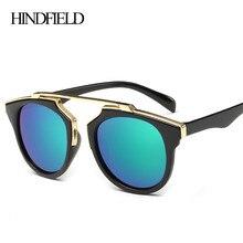 Hindfield new luxury gafas de sol mujeres primera marca gafas vintage mujer retro gafas de sol mujer