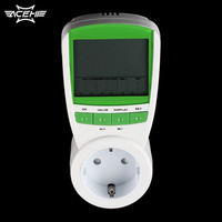 1pc EU Plug Electric Energy Saving Power Meter Consumption Watt Volt Amp Frequency Monitor Analyzer 230V