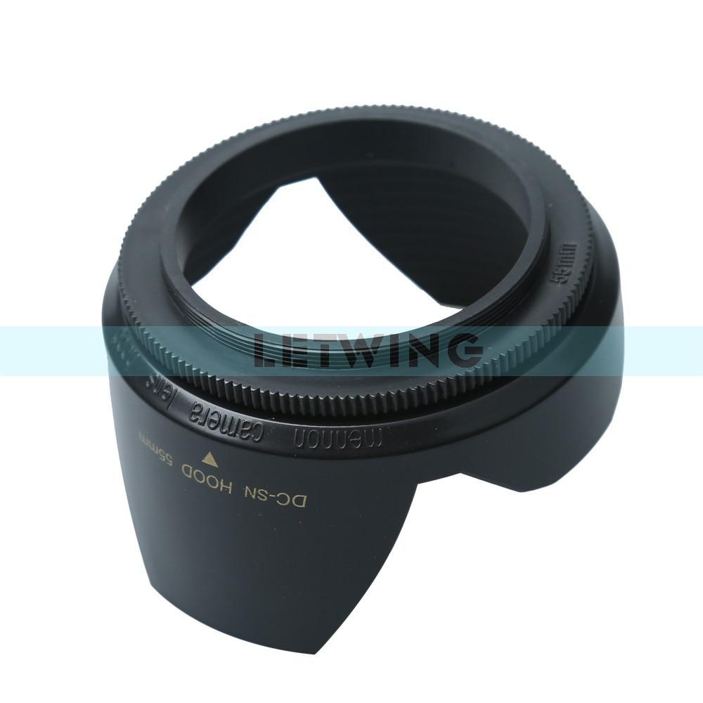 Горячая универсальный цифровой камеры бленда для канона Nikon Blcak лен вытяжки для камеры 1 шт. винт спираль 55 мм