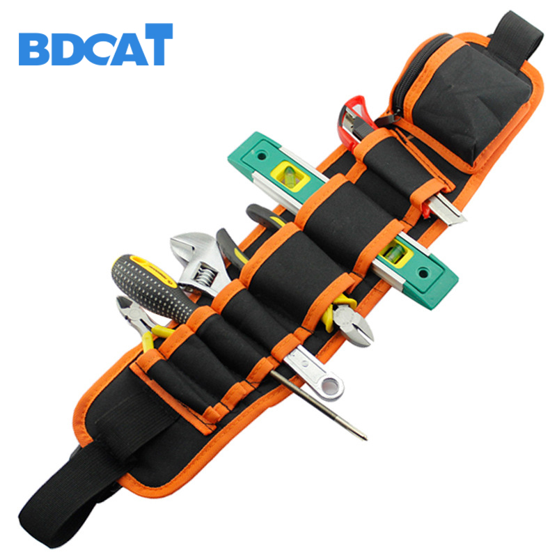 Waist Carpenter Rig Hammer Tool Bag Pockets Electrician Tool Pouch Holder Pack Canvas Electrical Repair Pockets Waterproof New tool bag electric kit waterproof buffer kit nylon open tote bucket organizer electrician pockets portable pack oxford toolkit