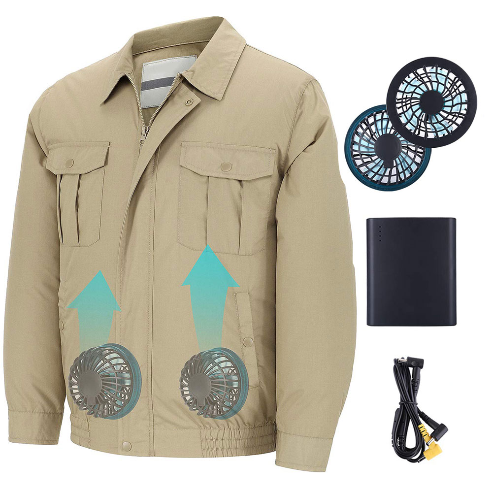 Unisex Workwear Jacket Clothes Equipped Cooling Fan For Summer Outdoor Air-Conditioned TH36