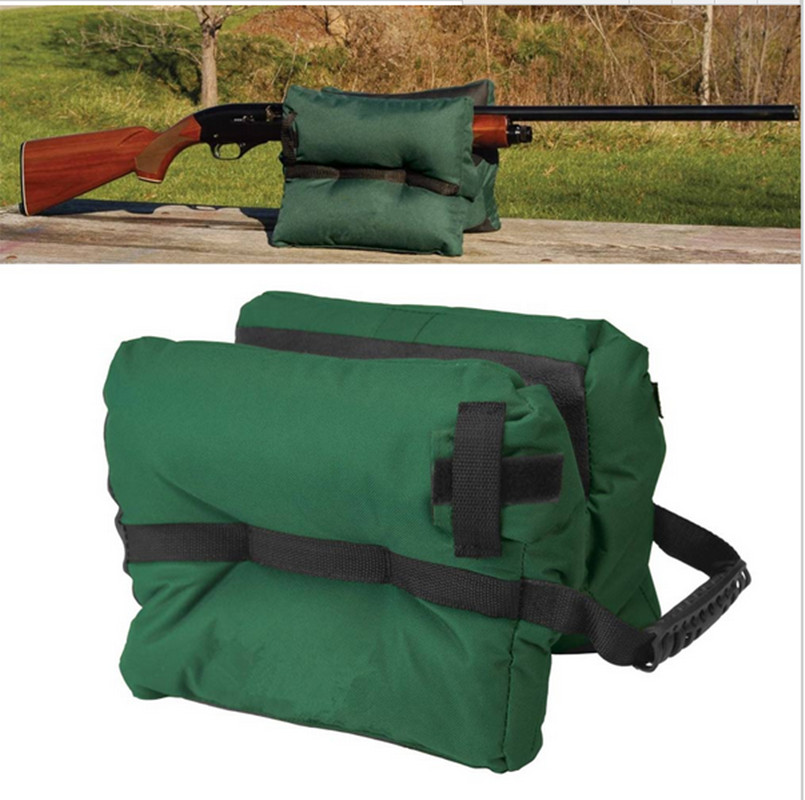 Portable Shooting Rear Gun Rest Bag Set Rifle Target Unfilled Stand Hunting BLK