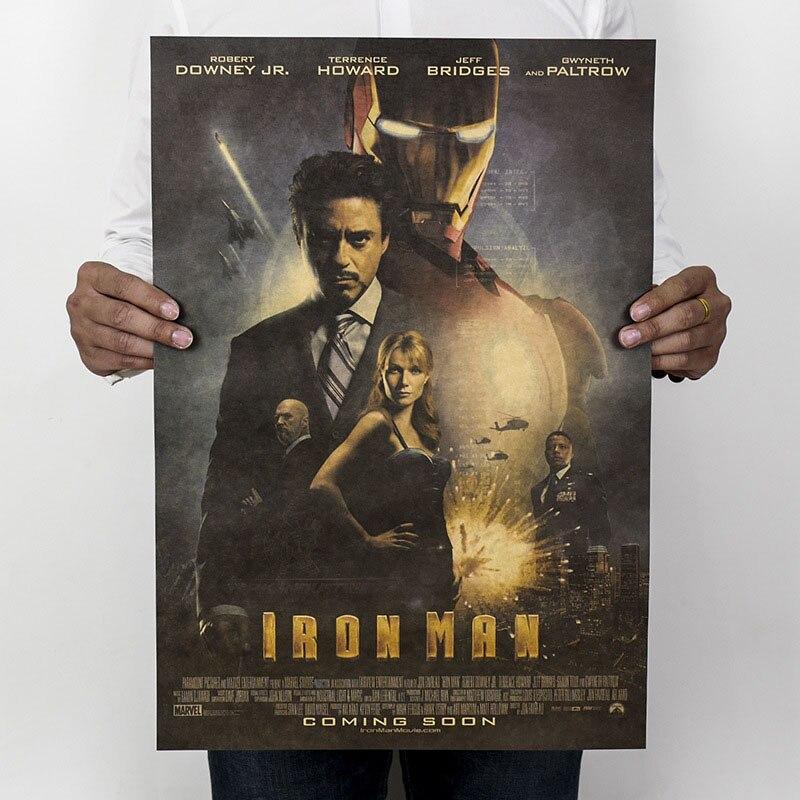 Mling 1 шт., 51,5x36 см, постер из серии Marvel, Мстители, война бесконечности, Ретро плакат, наклейки на стену для гостиной, украшение для дома - Цвет: H04