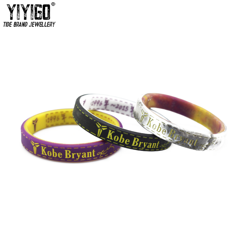 1Piece Commemorative Edition Kobe Bryant No.24 Silicone Bracelet Lakers Retired Memorial Men lovers Basketball Sports Wristband
