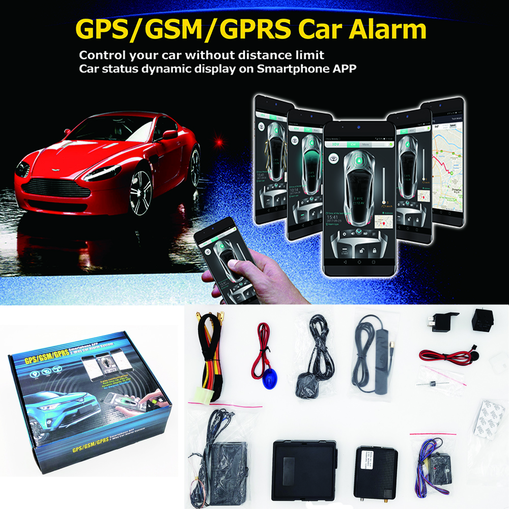 SZDALOS GPS GSM GPRS Smartphone APP 2 Way Car Alarm System Mobile remote control and tracking
