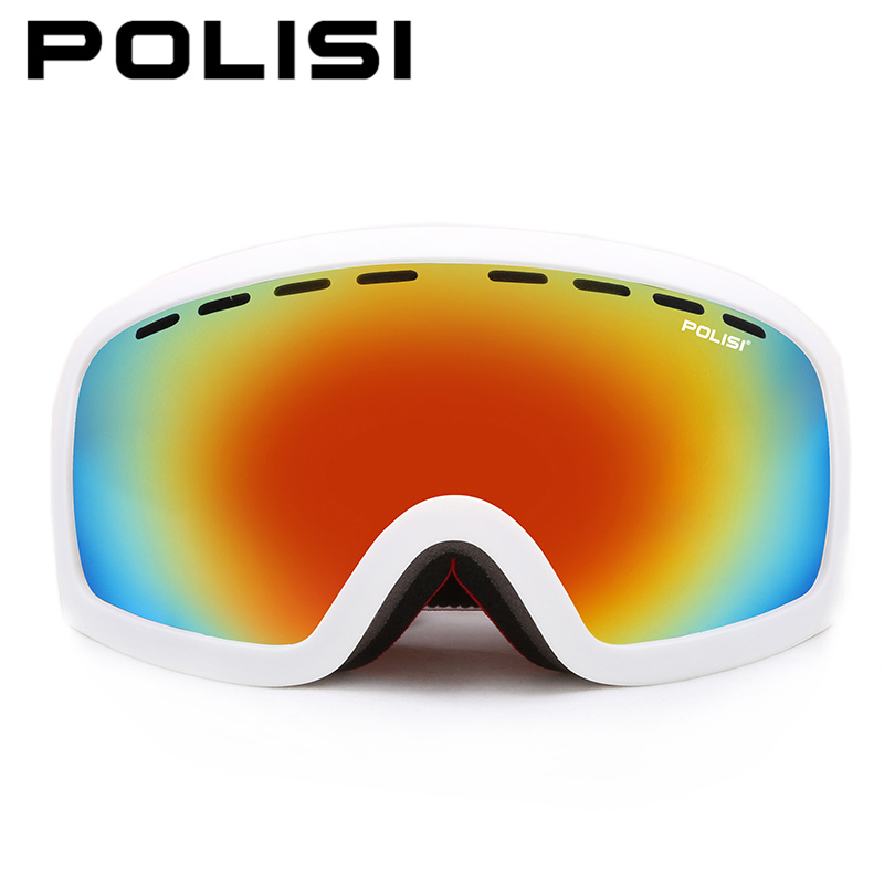 цена на POLISI Winter Men Women Snowboard Skate Ski Goggles Polarized Skiing Snow Glasses Double Layer Anti-Fog Lens Snowmobile Eyewear