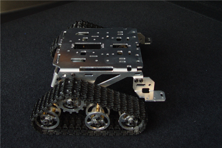 Disciplined Metal Smart Robot Tank Chassis S200 Kit For Arduino Uno R3 Rc Tracked Car/crawler With 2 Motors 2 Caterpillar Metal Structure Remote Control Toys