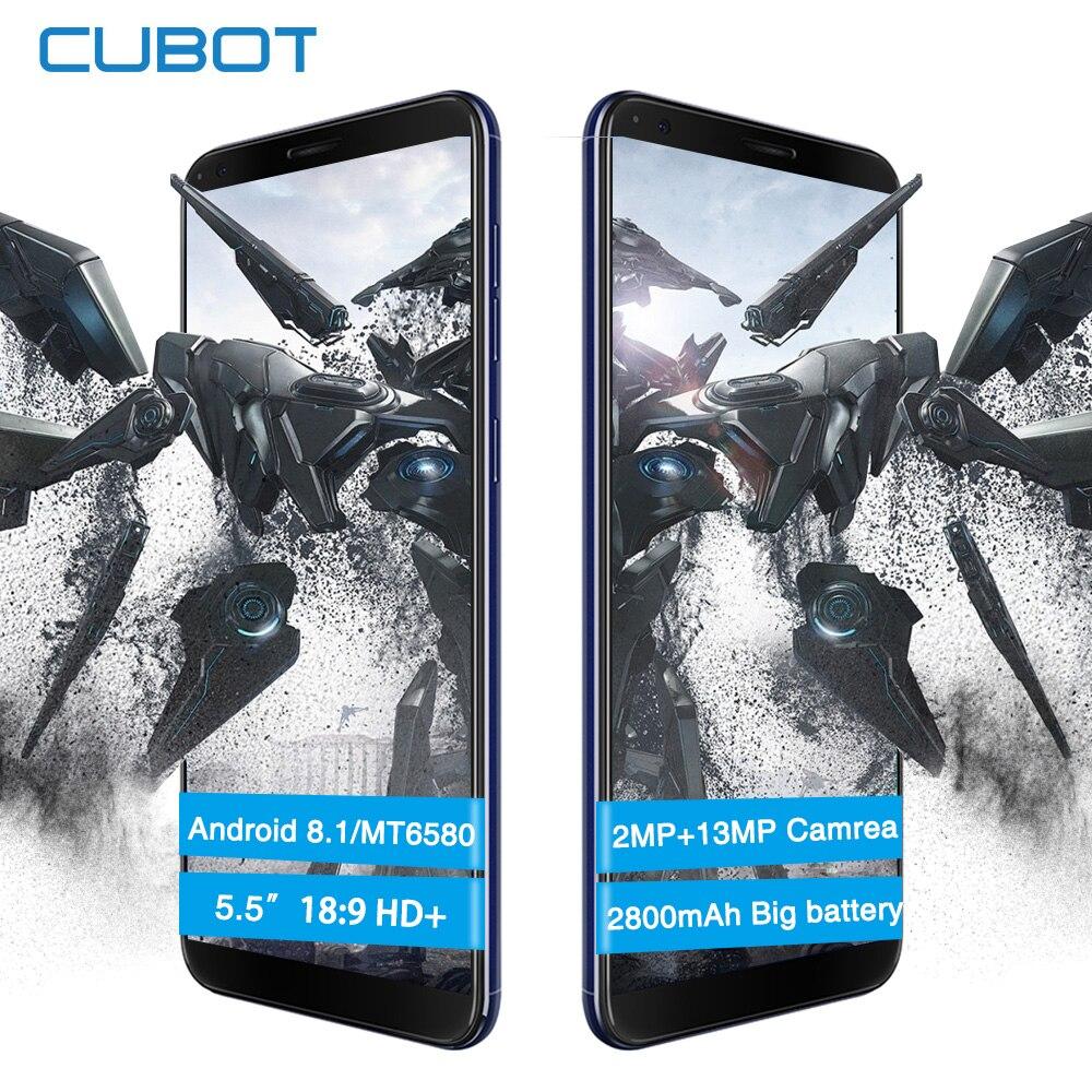 Cubot R11 5.5 pouces IPS HD + écran Smartphone MT6580 Quad-Core arrière double caméra 2 GB + 16 GB 2800 mAh téléphone portable à empreinte digitale