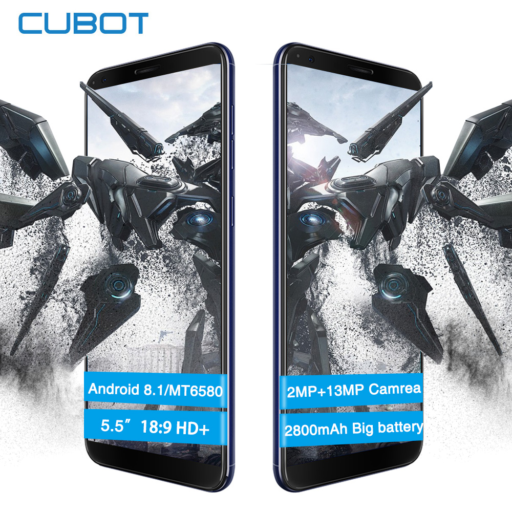 Cubot R11 5.5 Inch IPS HD+Screen Smartphone MT6580 Quad Core Rear Dual Camera 2GB+16GB 2800mAh fingerprint Mobile Phone