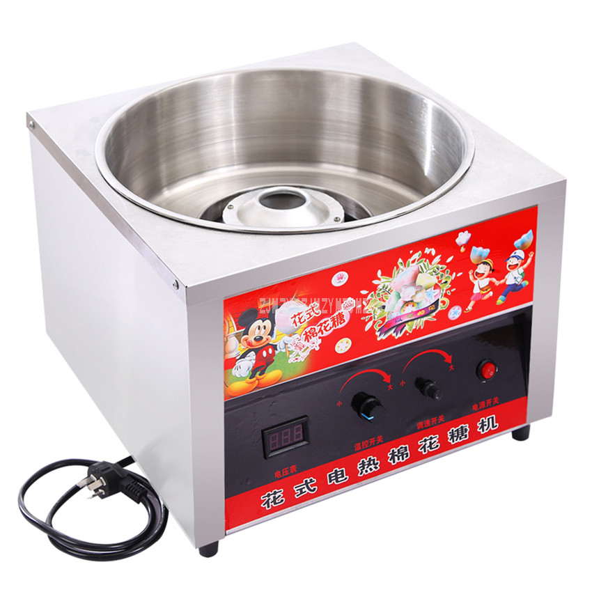 1000W Commercial Electric Automatic DIY Sweet Cotton Candy Maker Stainless Steel Cotton Sugar Floss Machine 4000rpm Motor Speed1000W Commercial Electric Automatic DIY Sweet Cotton Candy Maker Stainless Steel Cotton Sugar Floss Machine 4000rpm Motor Speed