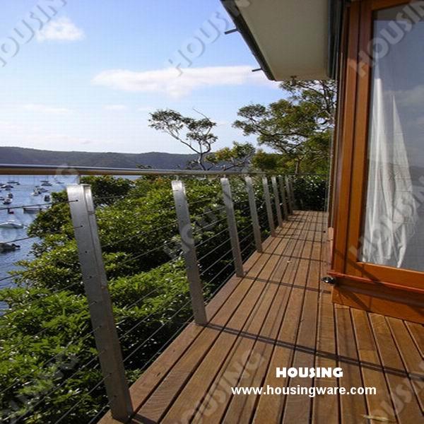 Anti rouille câble garde corps pour terrasse en bois en bonne vente ...