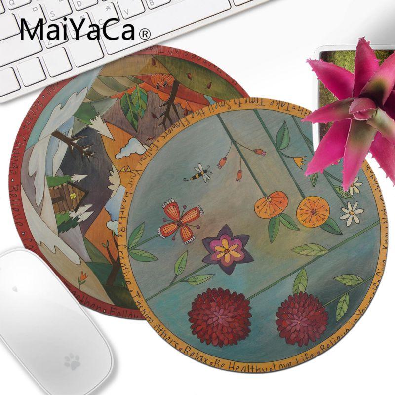 MaiYaCa Small Wood Lazy Susan art painting Laptop Gaming Lockedge Mice Mousepad Gamer Sp ...