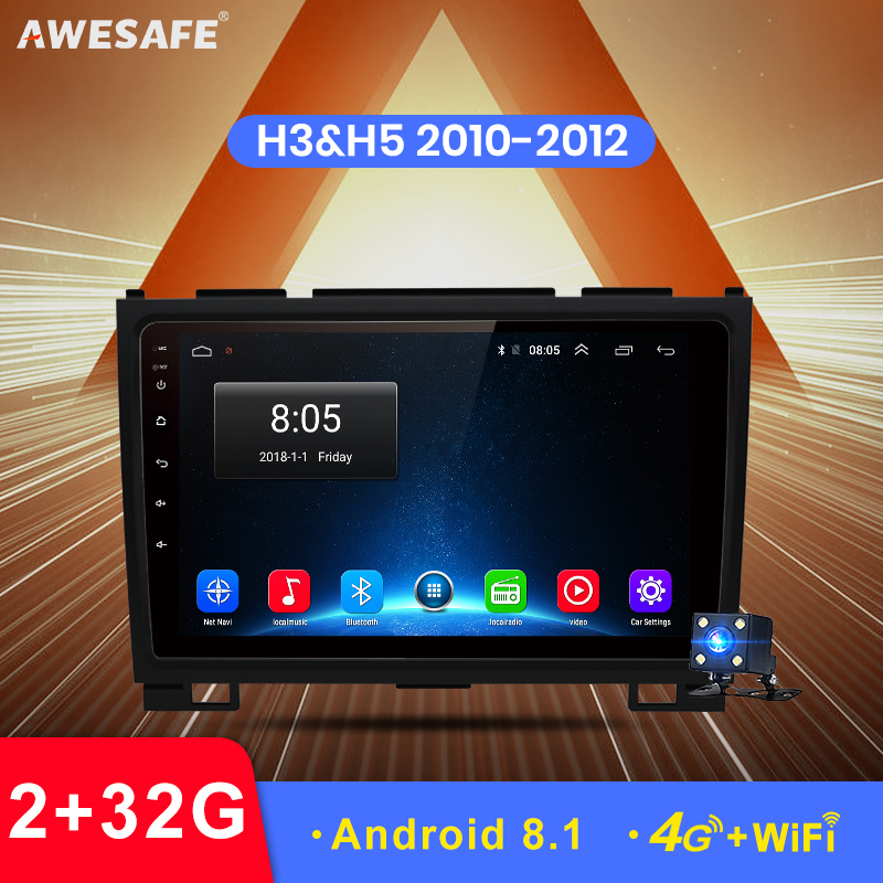 AWESAFE 2 Din Android 8.1 Car Radio Multimedia Video Player Gps Navigation For Haval Hover Great Wall H5 H3 2010 2011 2012 Wifi