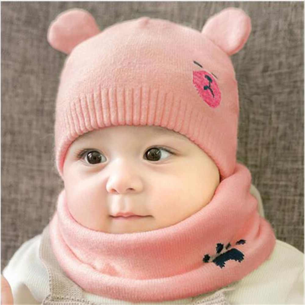 36299bde8be ... Puseky Hooded Scarf Ear flap Knitted Cap Hats Warm Bear Round Machine  Cap Protects Ear Bonnet ...