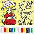 Pintura de areia Colorido papel de rascunho HOT new enigma Desenho aprendizado & educação brinquedos clássicos para crianças de construção de Brinquedos de presente