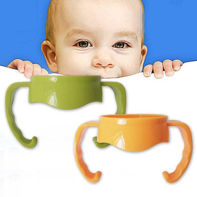 واسعة الفم الطفل رضاعة مقابض حامل سهلة انتزاع البلاستيك مقابض حامل الطفل زجاجة الاكسسوارات 7 ألوان