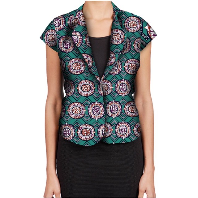 Fashion African Print Women Suit Jacket Africa Festive Ladies Short Sleeve Tailored Blazers For Party Cutomize Africa Clothing 4