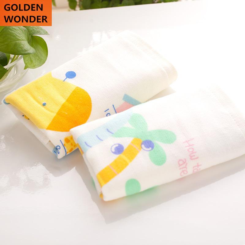 100% Cotton Towel Printing Gauze Washrag Washcloth Facecloth Home Decor Cartoon Children Kids Elephant Giraffe Lovely