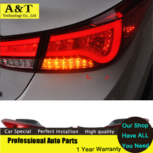 A&T car styling Tail Lights Altis Lamp DRL for Hyundai Elantra Rear lights 2011 2012 2013 2014 New LED Signal+Brake+Reverse Car